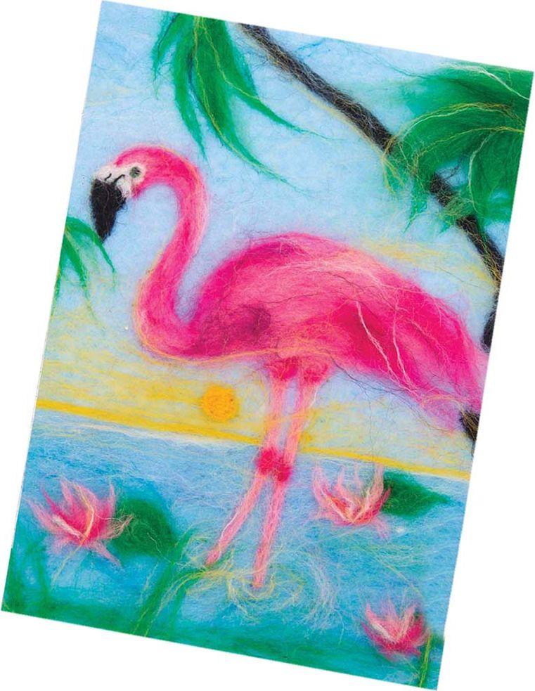 Живопись шерстью Школа талантов Фламинго, 3803463