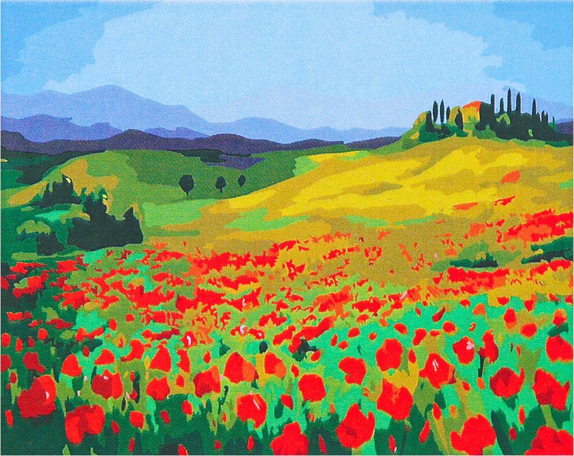 Картина по номерам Flamingo Маковое поле, 3991234, 40 х 50 см цена