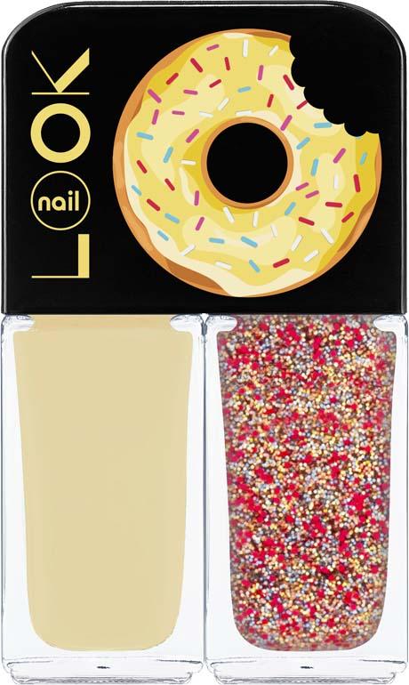 Лак для ногтей Nail Look Trends Donut Bar, Banana Iced Sprinkles, 2 х 3 мл