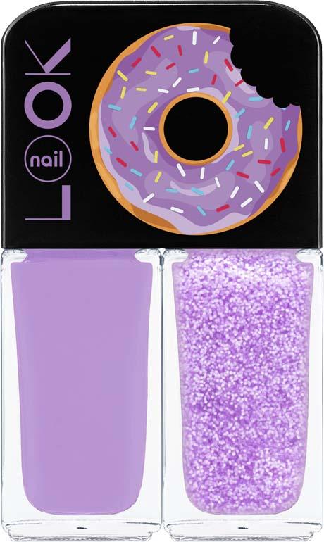 Лак для ногтей Nail Look Trends Donut Bar, Crunchy Blueberry, 2 х 3 мл