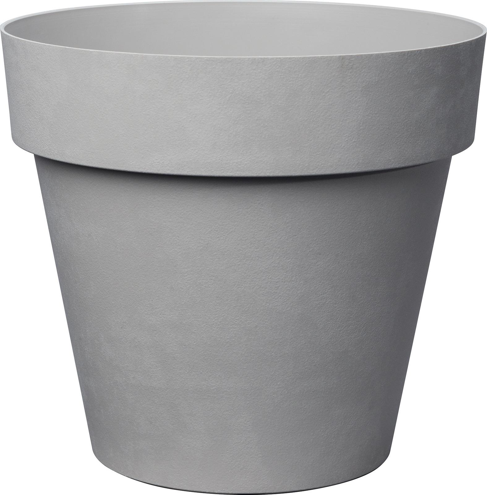 Горшок для цветов Deroma Лайк, 9DP2ZPZ309, светло-серый, 18 х 18 х 16,5 см
