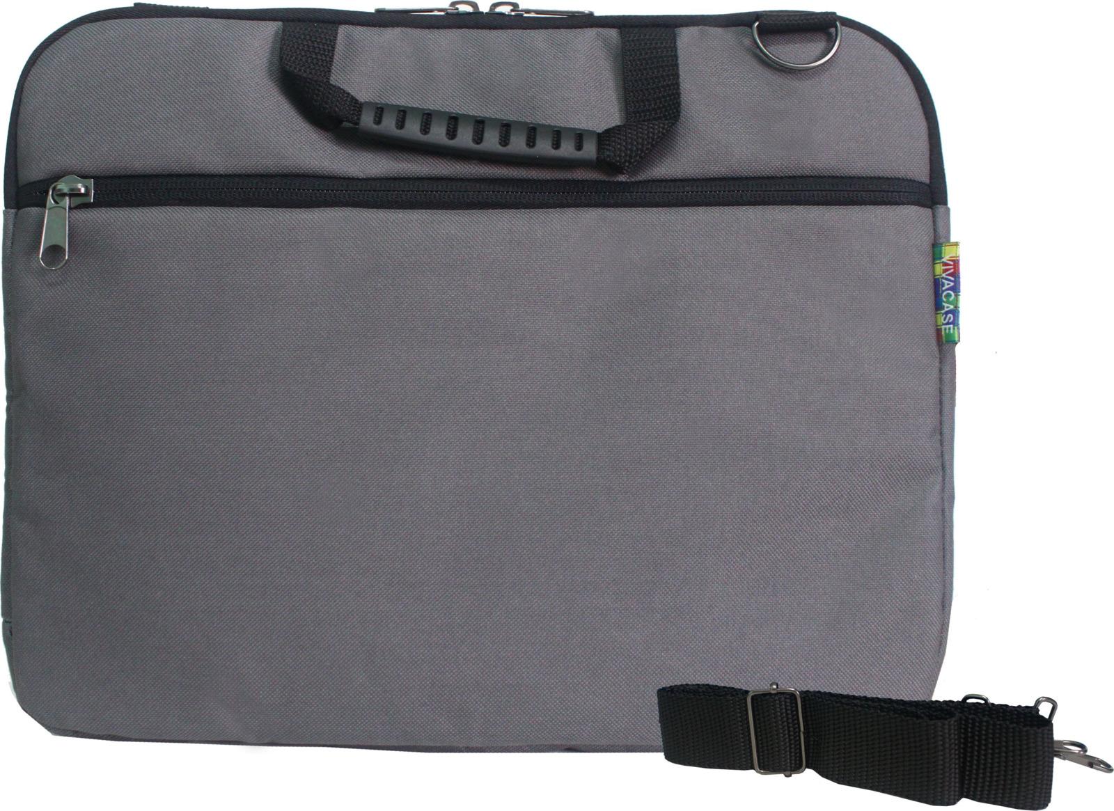 "Сумка для ноутбука Vivacase Business Slim 14"", VCN-CBSL14-gr, серый"
