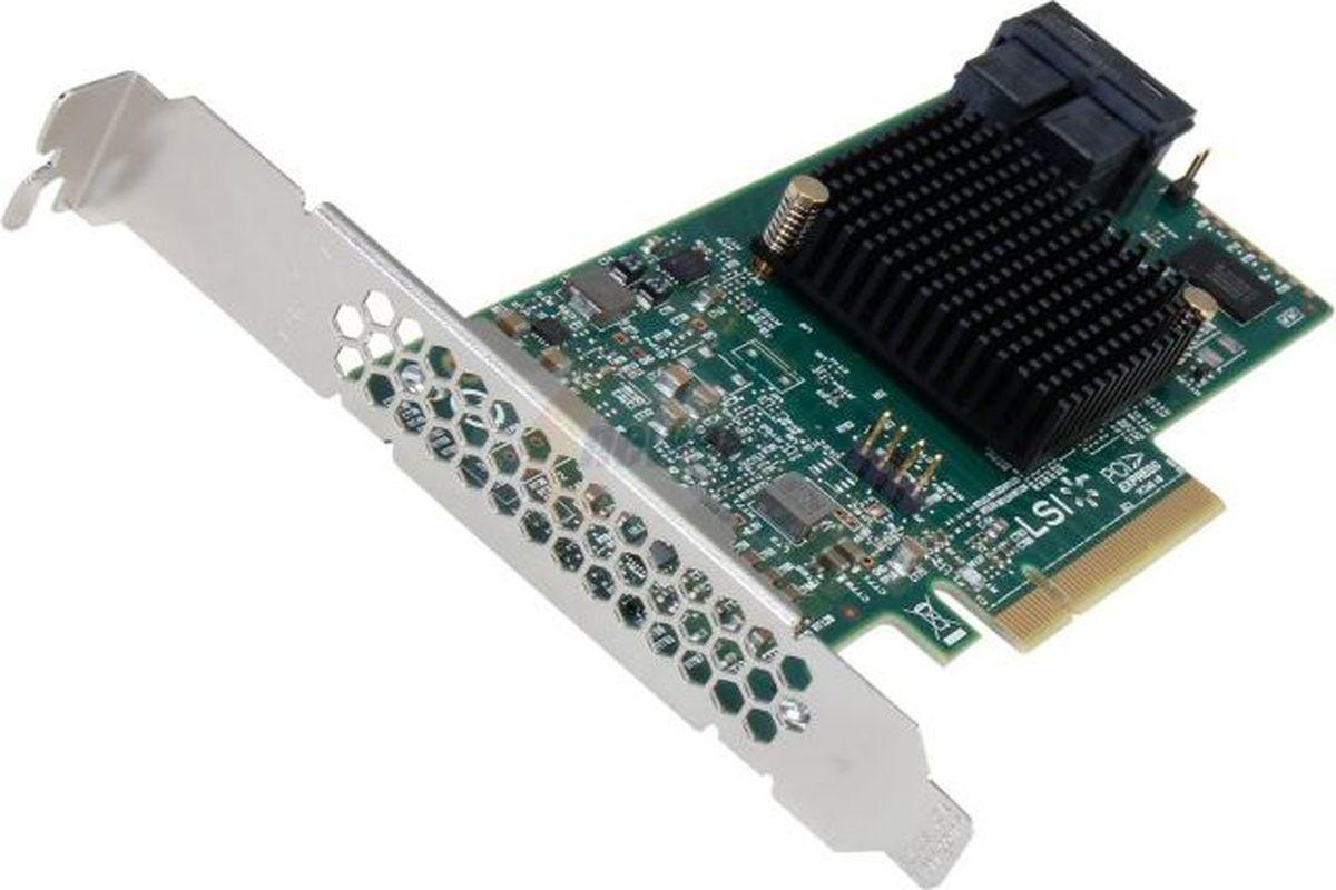 Контроллер LSI 9300-8I LSI00344 контроллер sas sata lsi megaraid sas9300 8i pci e 3 0 x8 lp sgl lsi00344