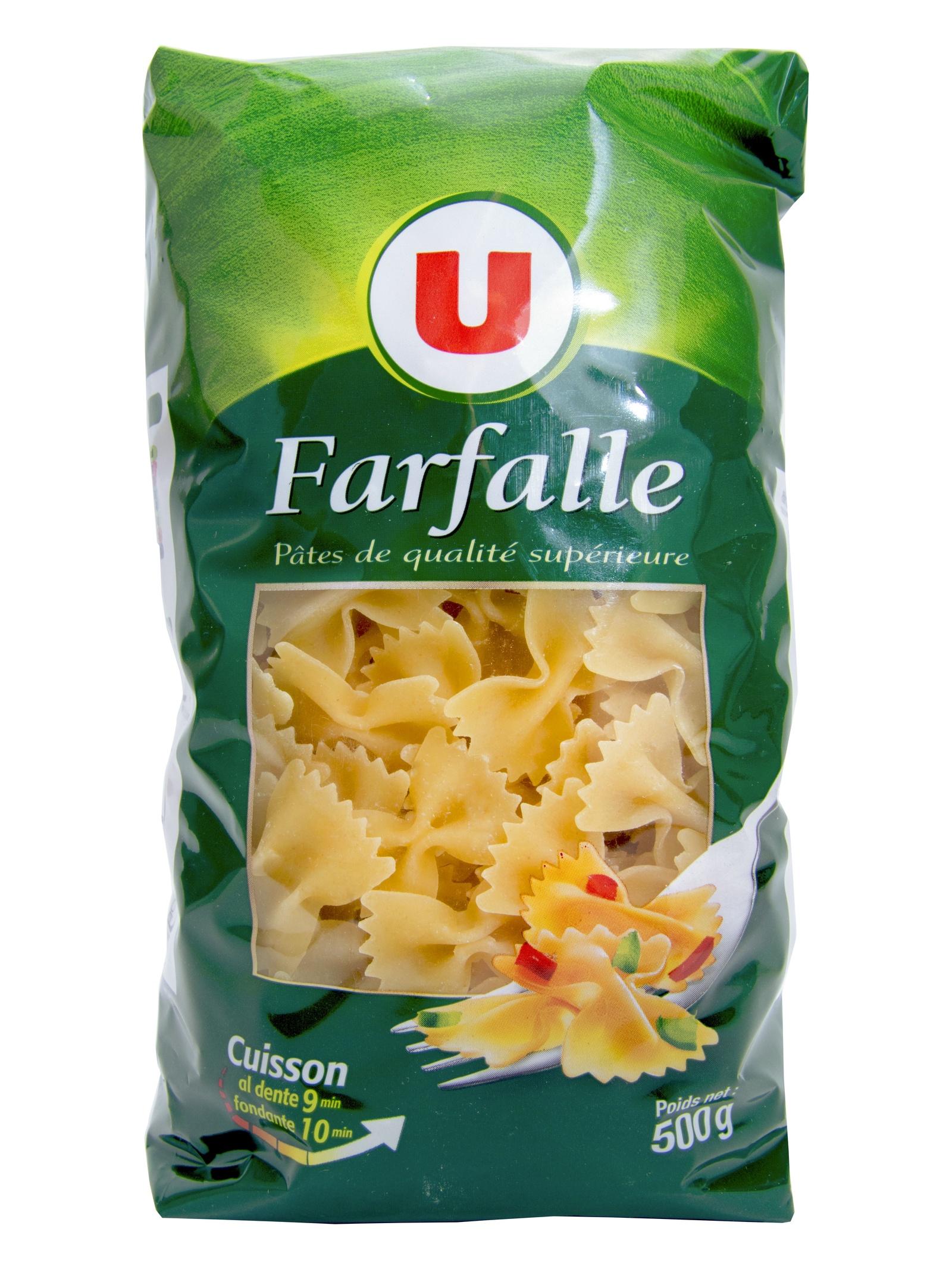 Макароны U Farfalle фарфалле бабочки из пшеничной муки из твердых сортов пшеницы, 500 г., Франция rummo casarecce 88 паста 500 г