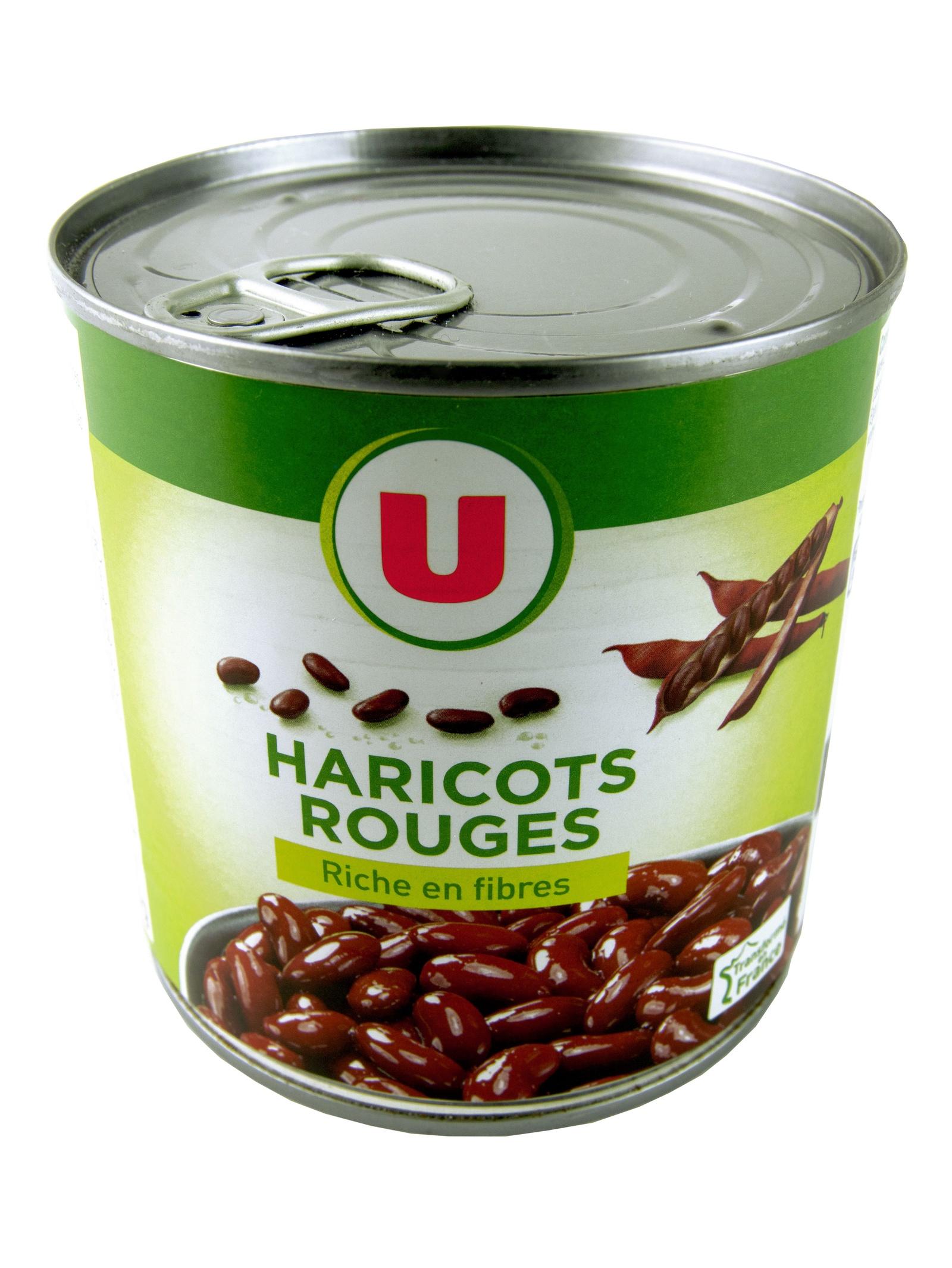 Овощные консервы U Фасоль красная в собственном соку 400 г, Франция Жестяная банка компот похудин банка 400 г