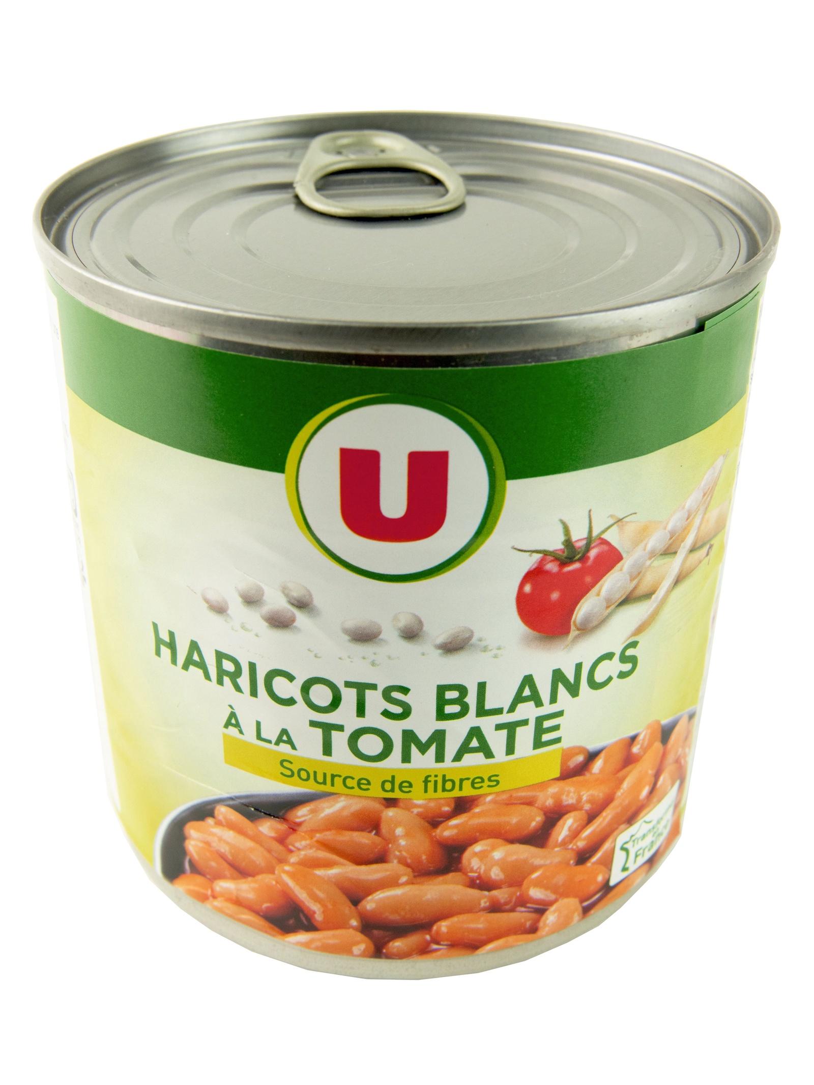 Овощные консервы U Фасоль белая в томатном соусе 400 г, Франция Жестяная банка бычки аквамарин в томатном соусе 240 г