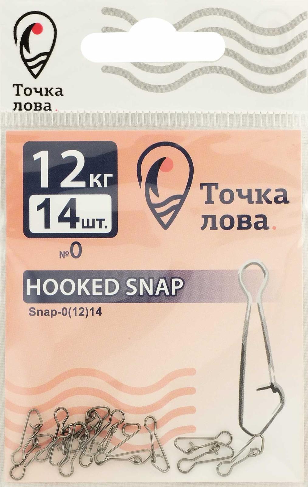 Аксессуар для рыбалки Точка Лова Застежка, Snap-0(12), 14 шт