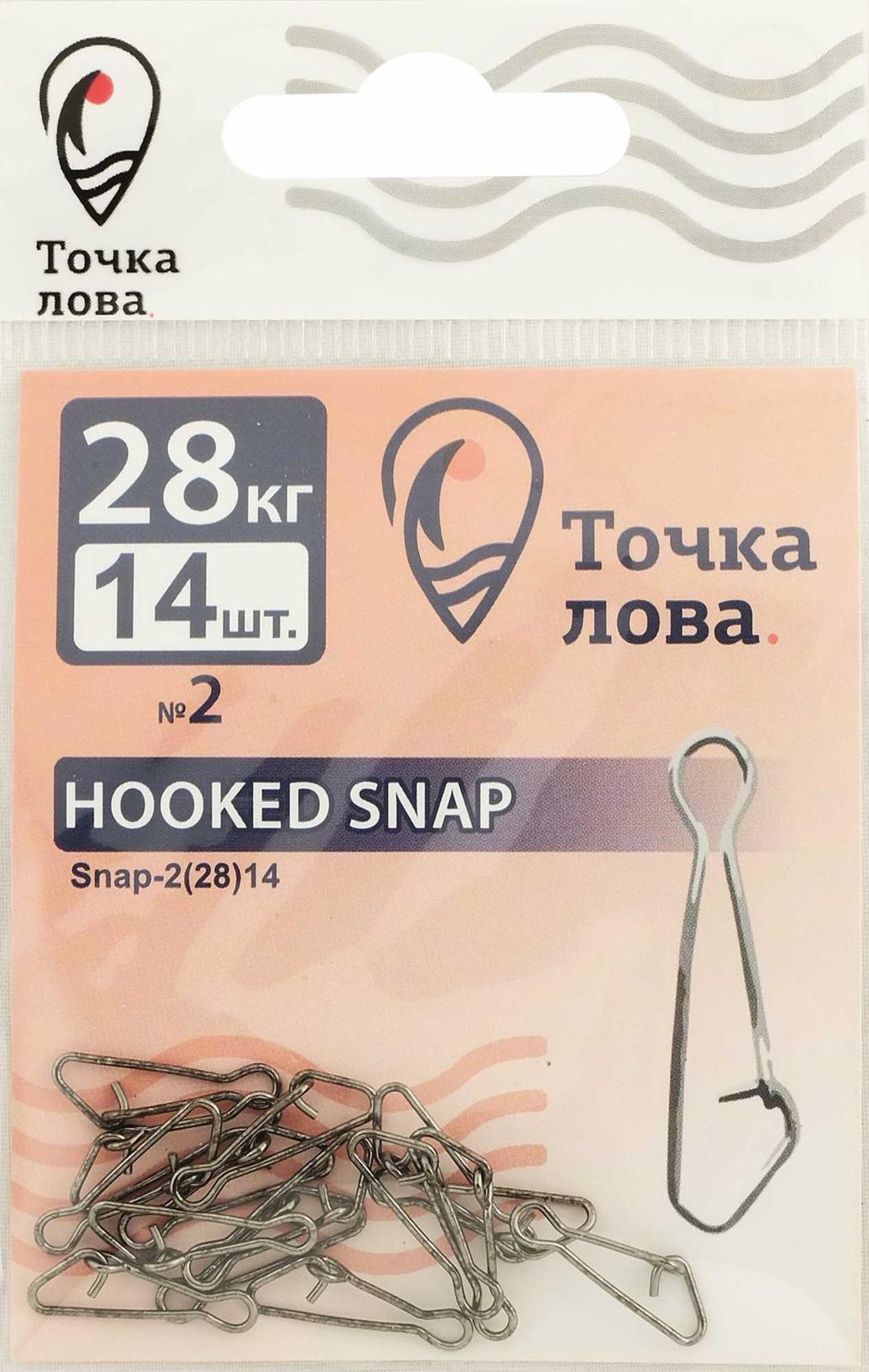 Аксессуар для рыбалки Точка Лова Застежка, Snap-2(28), 14 шт