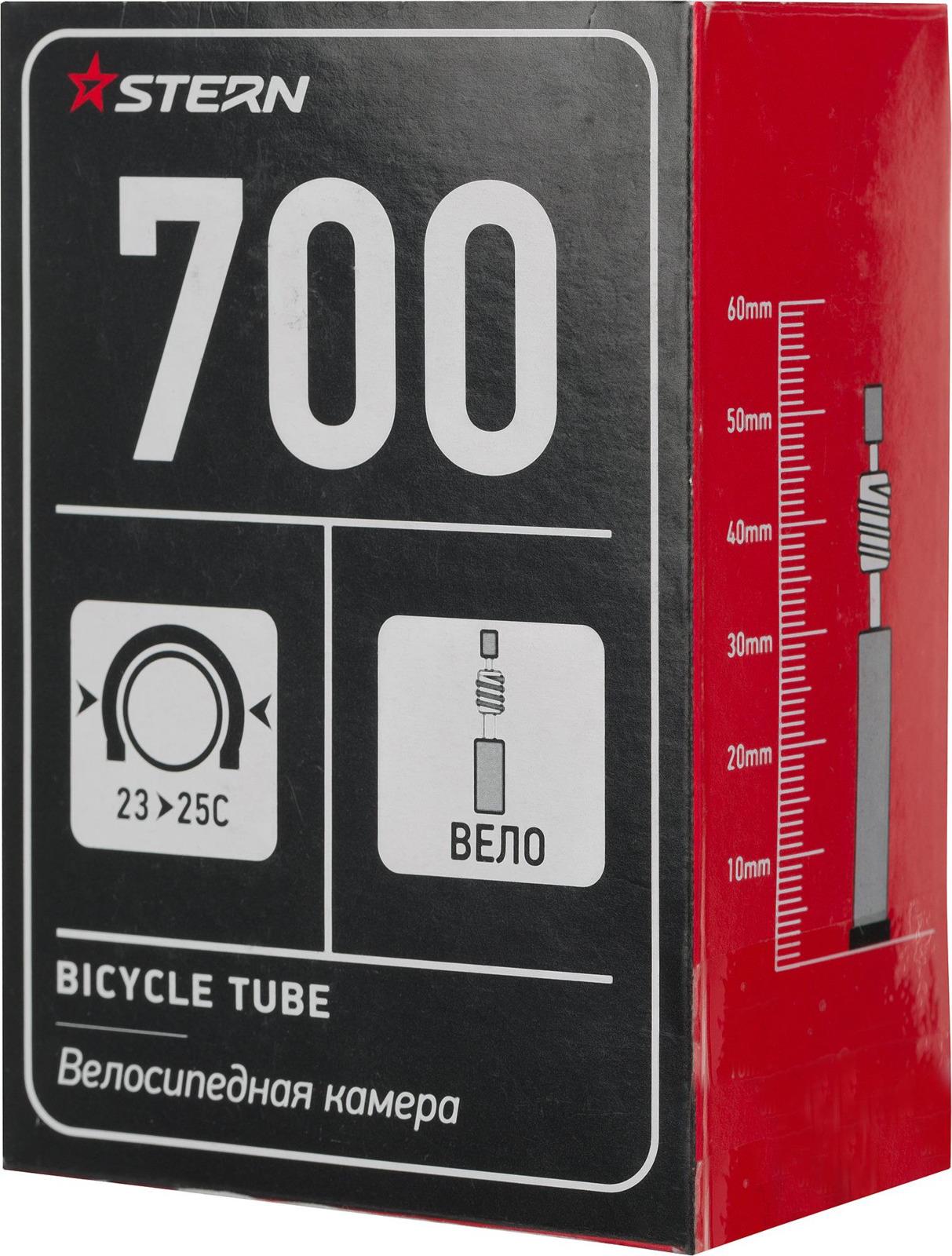 Велокамера Stern CTUBE-700C, черный, 700С, велониппель