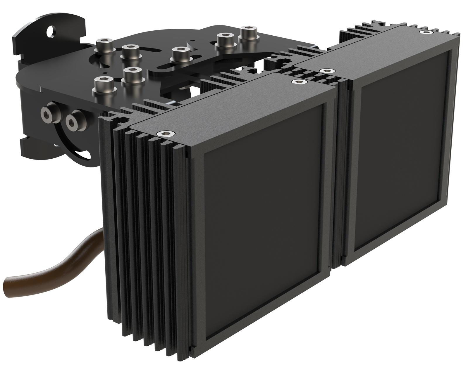 Инфракрасный прожектор Microlight IR VARIO M 2.8-12/30 с регулировкой угла для камеры с объективом 2,8-12 мм. Дальность до 70 метров ночного видения Уличный IP67