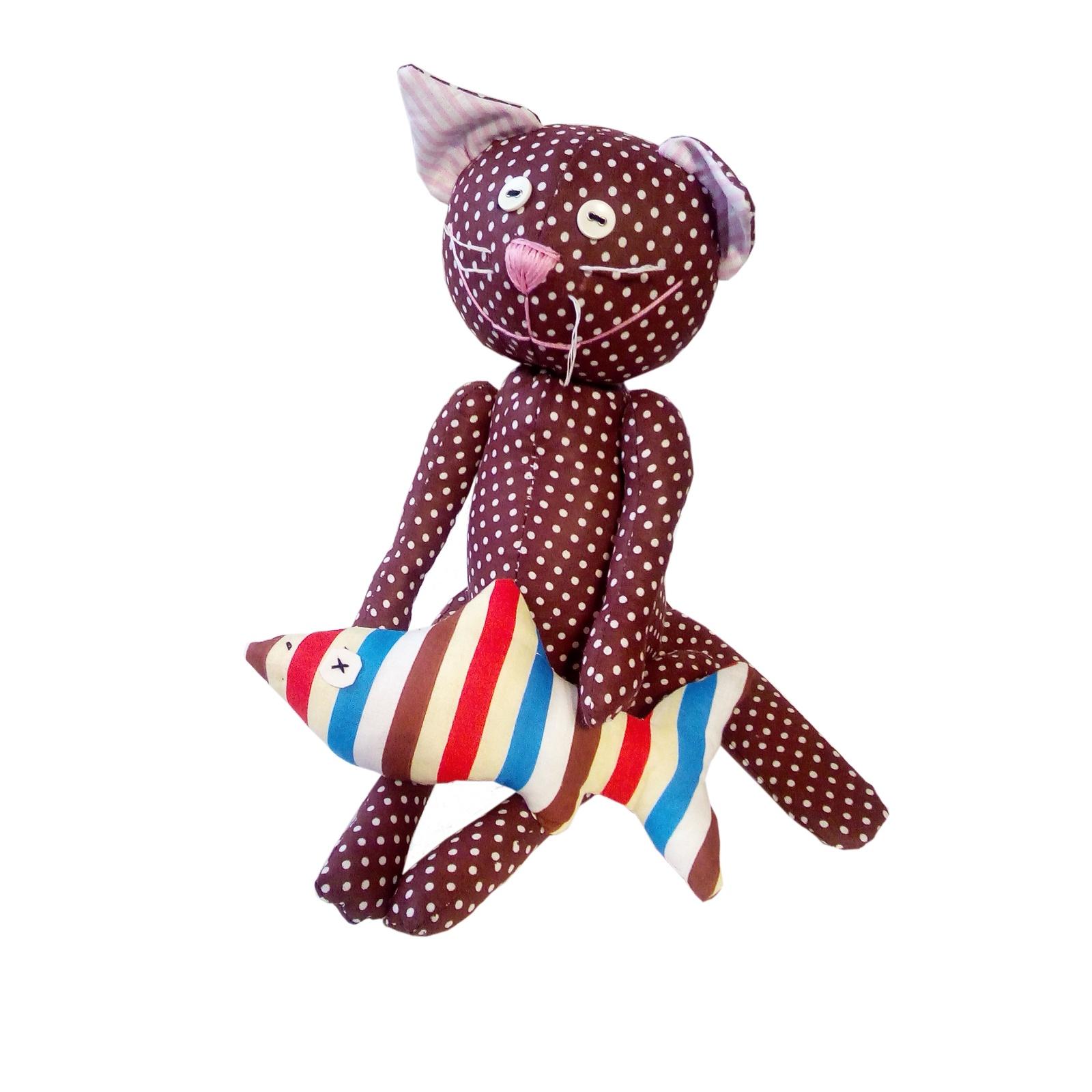Набор для изготовления игрушки. Кот Лаки- Рыбка Моя, 35 см.