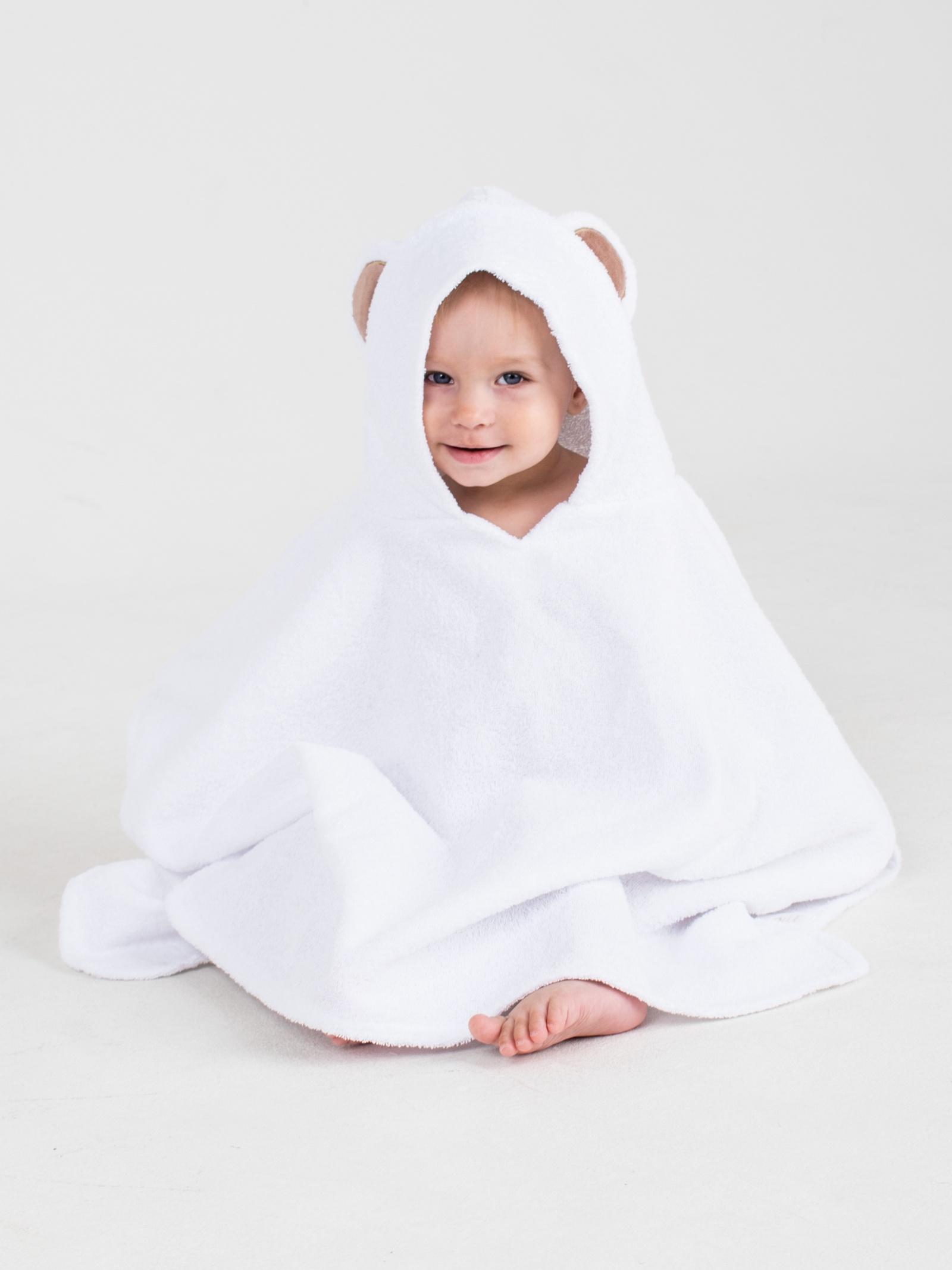 Полотенце детское BabyBunny Пончо Мишка Нежный, Хлопок хлопок возраст purcotton мокрое и сухое мягкое хлопчатобумажного полотенце хлопка полотенце хлопок для удаления 9 12см