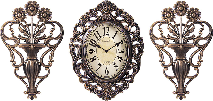 Настенные часы Русские Подарки Комплект для интерьера Настенные часы + Панно, 2 шт необрамленные настенные часы qite y613 2