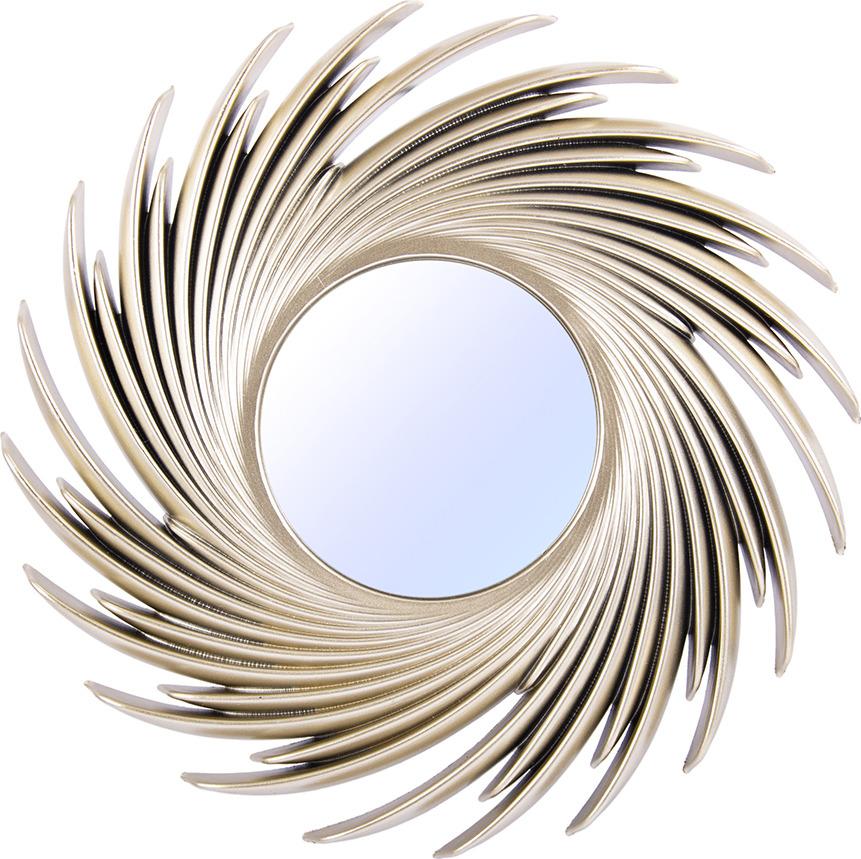 Зеркало интерьерное Русские Подарки, 237908, бронза, диаметр 24 см зеркало настенное d117 см