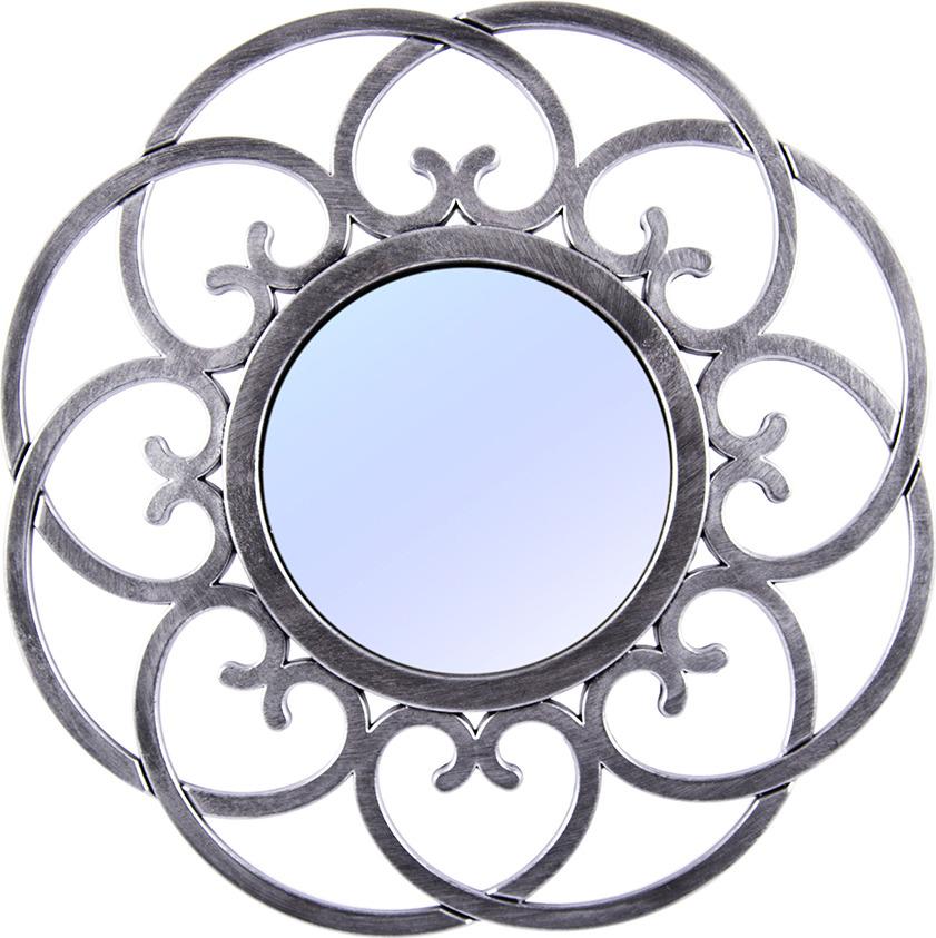 Зеркало интерьерное Русские Подарки, 237912, серый, диаметр 24 см зеркало настенное d117 см