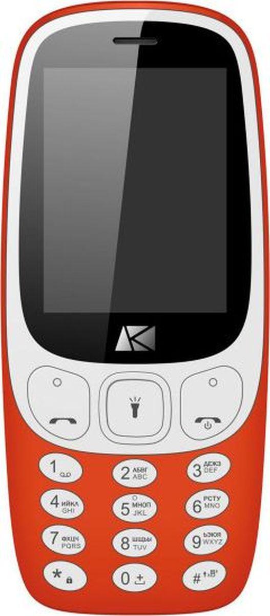 Мобильный телефон Ark Benefit U243, красный мобильный телефон ark u243 синий 2 4 32 мб