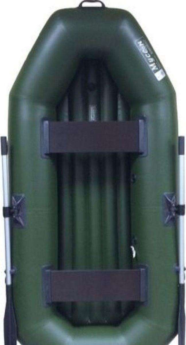 Лодка надувная Муссон S 240, цвет: зеленый цена
