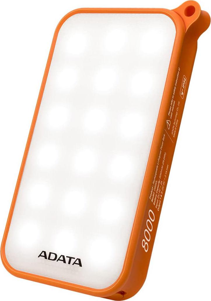 Внешний аккумулятор ADATA D8000 Li-Pol 8000 mAh, оранжевый
