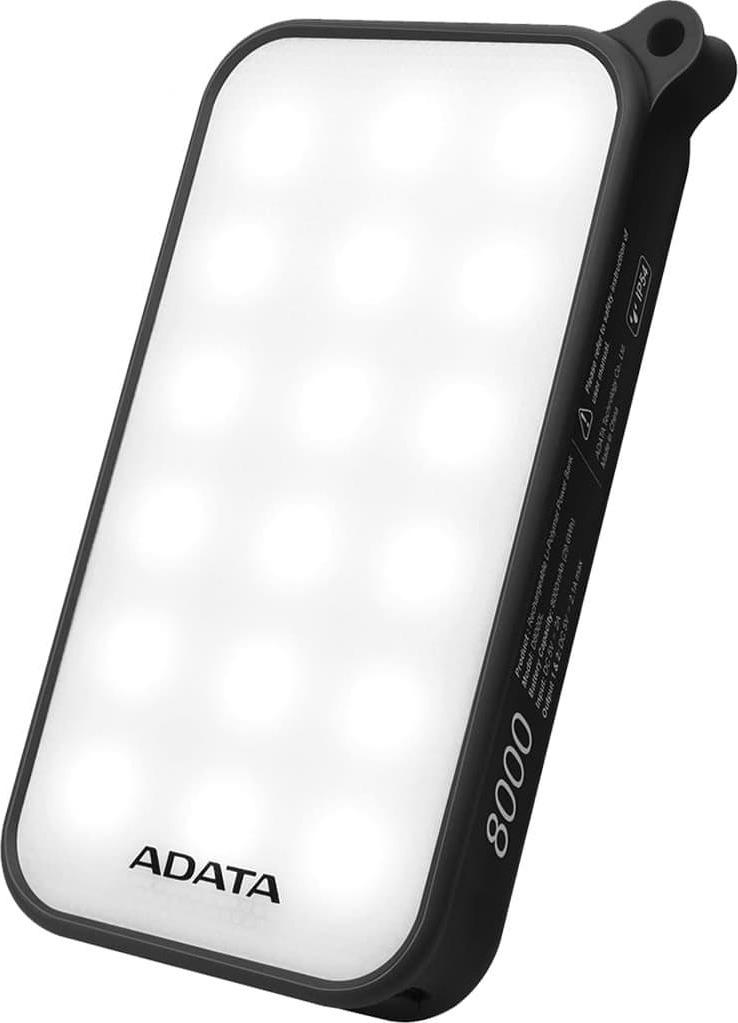 Внешний аккумулятор ADATA D8000 Li-Pol 8000 mAh, черный