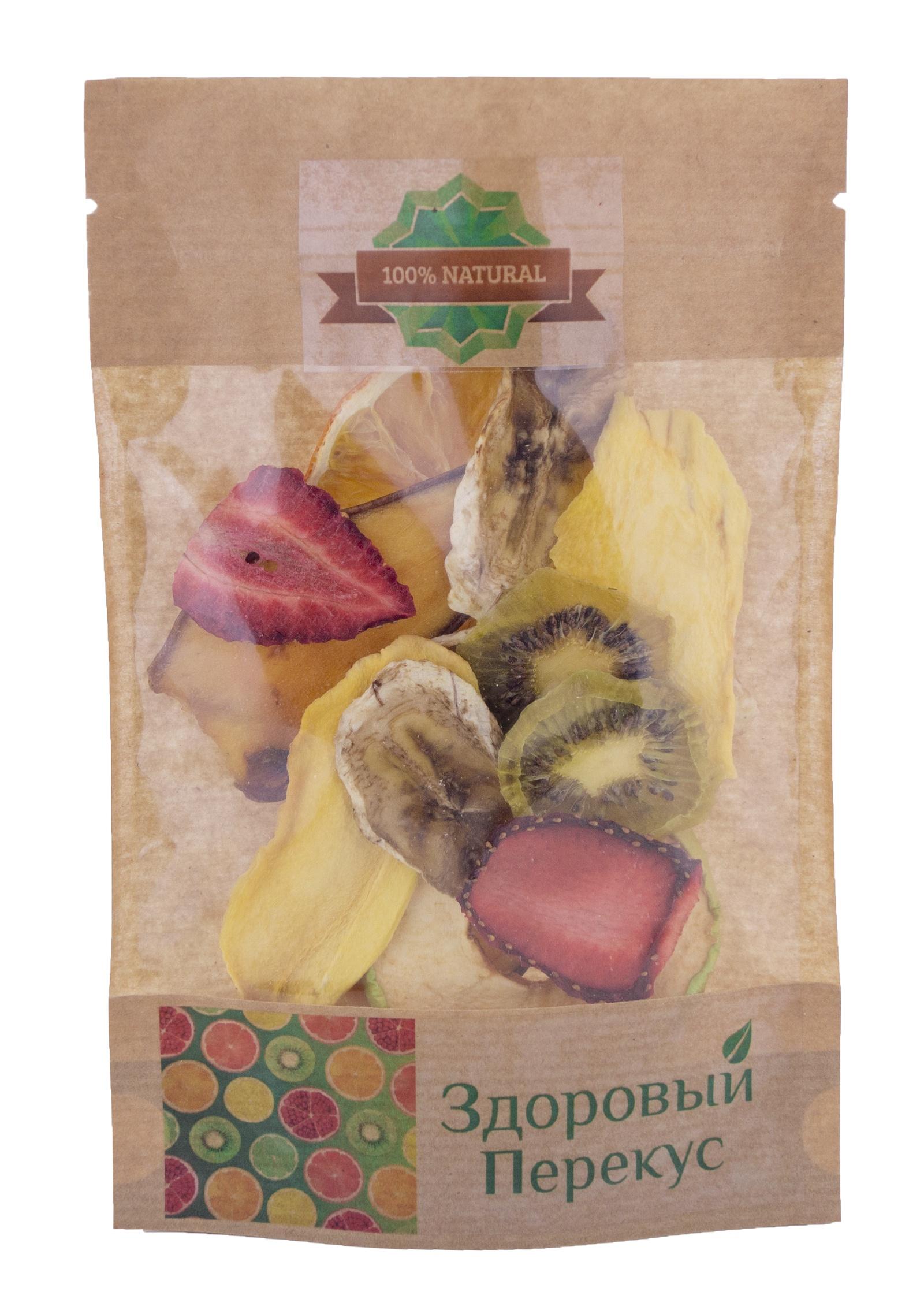 Фруктовые чипсы Здоровый Перекус Ассорти, 70 гр