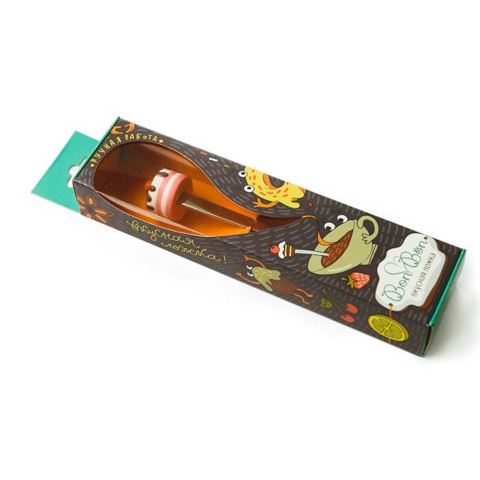 Сувенирная ложка Bon Bon с насадкой Торт клубничный стул vision с 7 тон 318 агата коричневая