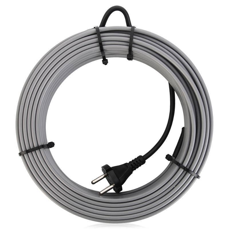 все цены на Греющий кабель SRL 16-2 на трубу 8 метров, серый онлайн