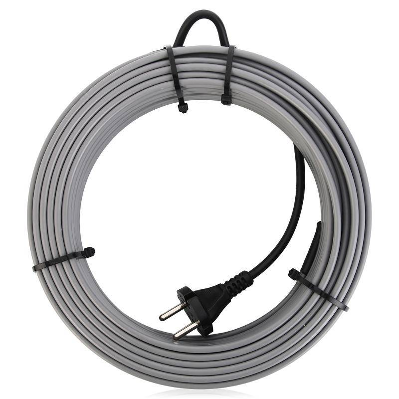 все цены на Греющий кабель SRL 16-2 на трубу 10 метров, серый онлайн