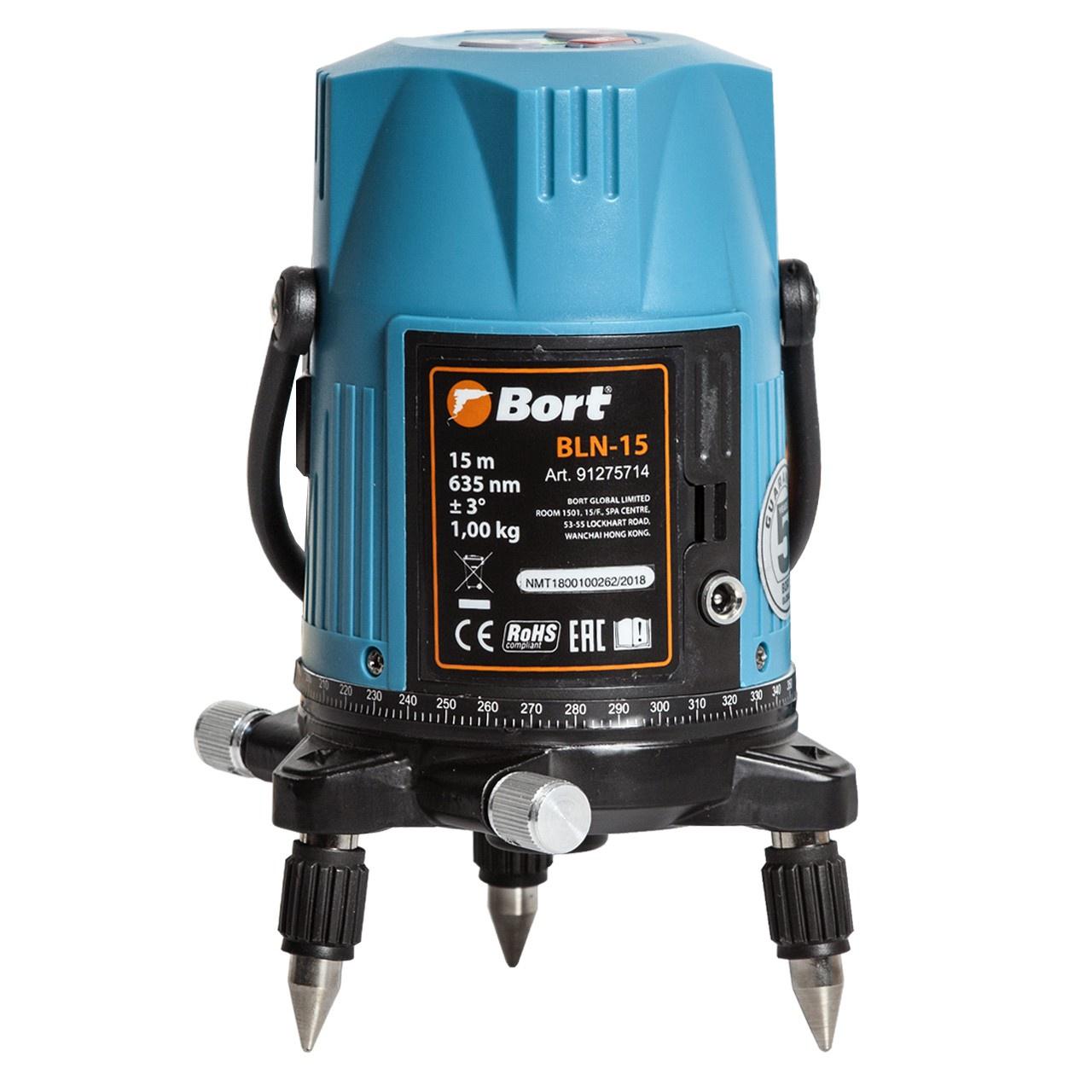 Лазерный уровень/нивелир Bort BLN-15, синий