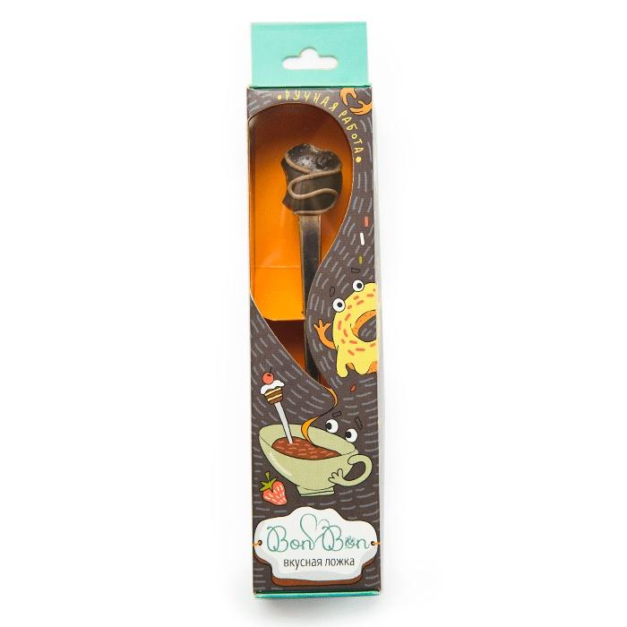 Сувенирная ложка Bon с насадкой Конфета шоколадная