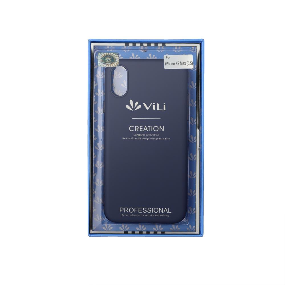Чехол для сотового телефона Vili Клип-кейс iPhone XS Max, синий клип кейс vili apple iphone xs max tpu blue