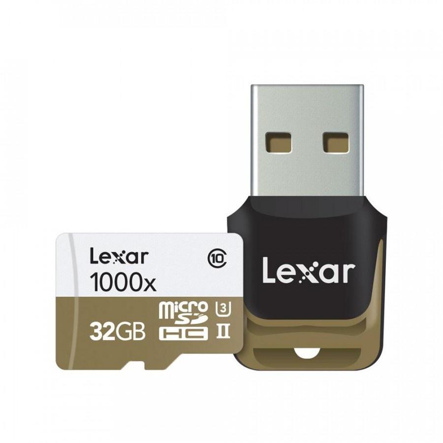 Карта памяти Lexar MicroSD 32GB Class 10 UHS-II 1000х (150 Mb/s) + USB картридер