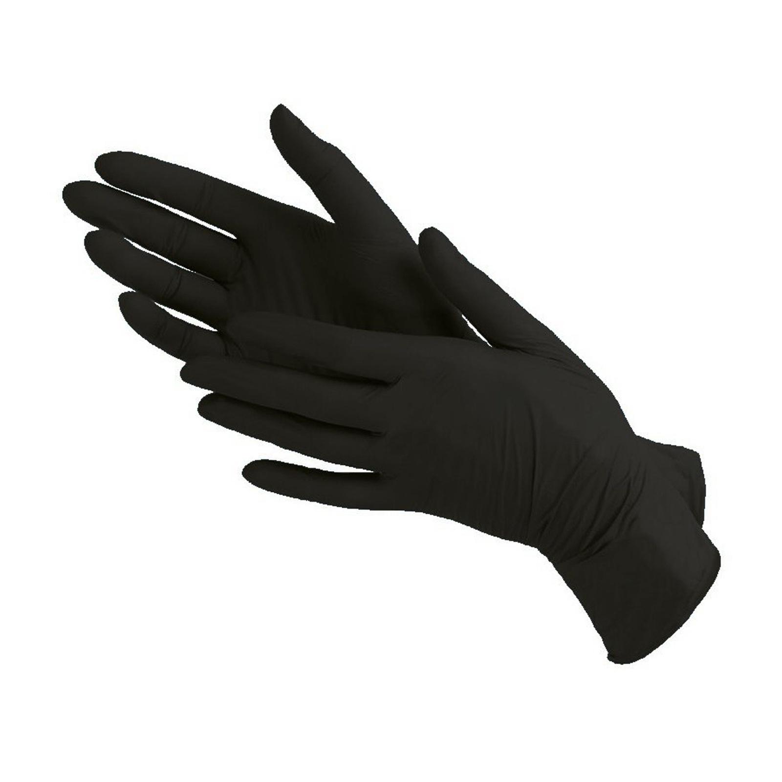 Перчатки нитриловые, черные, 50 пар/уп, размер XS Alliance