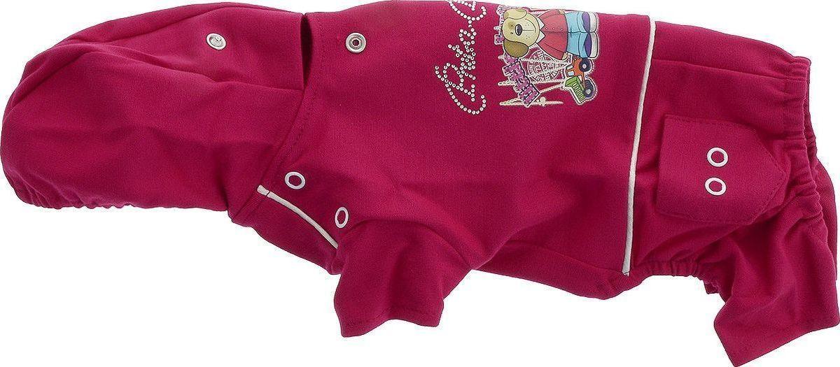 Одежда для собак Pret-a-Pet Мультяшки, комбинезон, унисекс, темно-бордовый, размер S цена