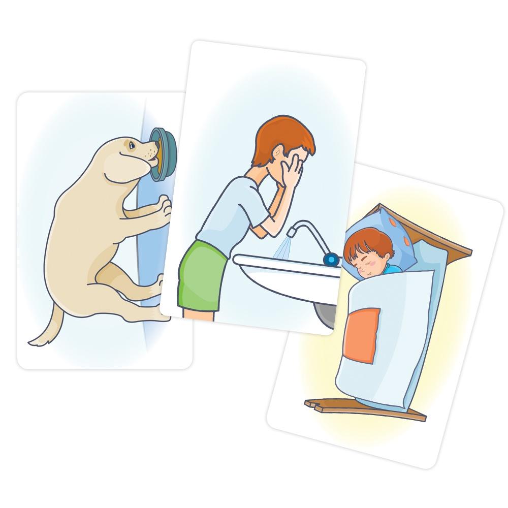 Обучающая игра Мерсибо Обучающие карточки Бежит - лежит