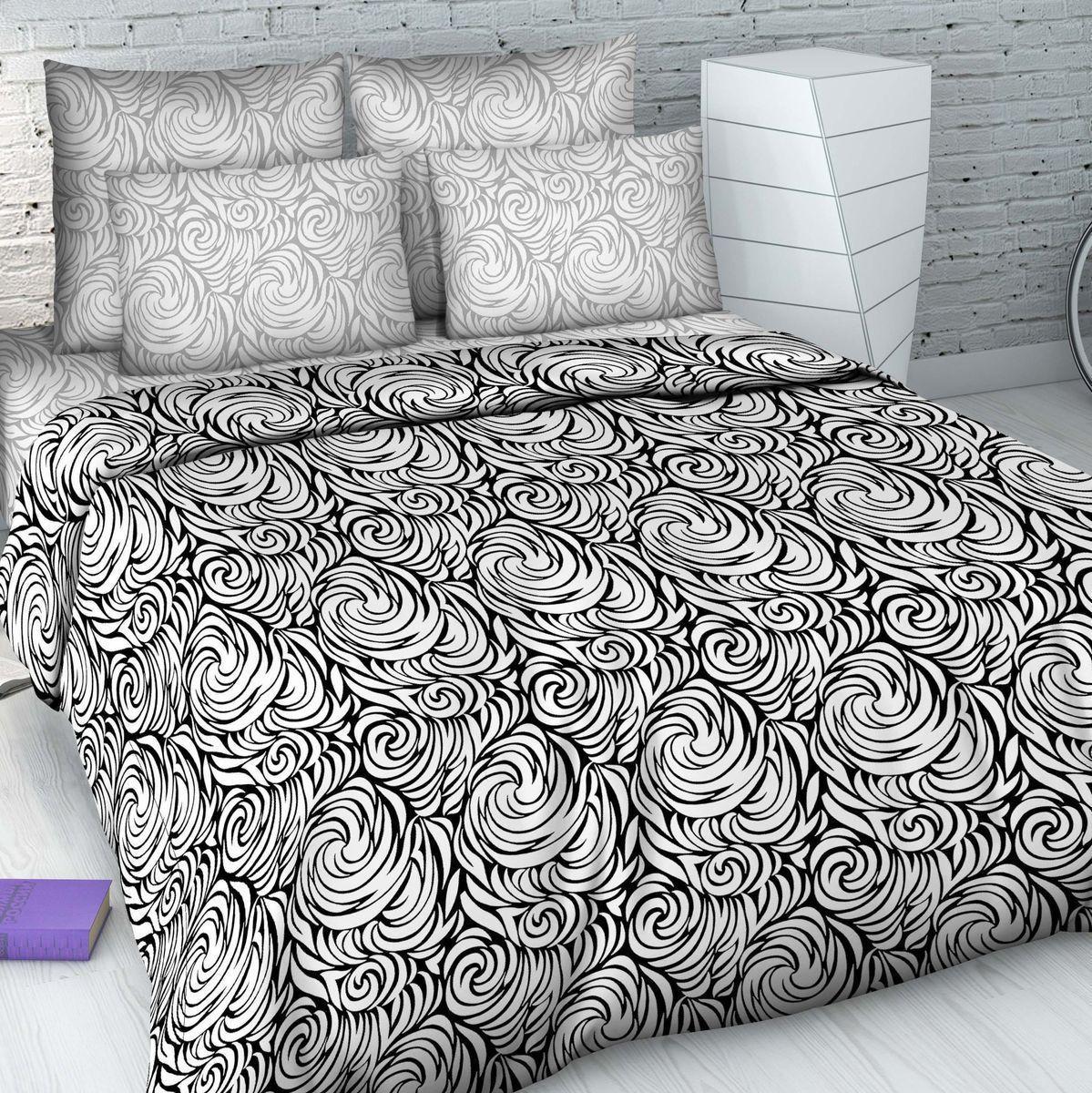 Постельное белье Василиса КПБ Дуэт 2-х спальный наволочка 70х70 постельное белье cleo кпб сатин набивной люкс дизайн 365 2 спальный