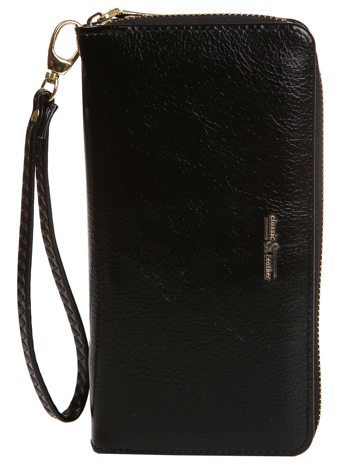 Кошелек LUMINORA LAB Classic, черный mexican модный классический длинный мужской кошелёк бычьей кожи барсетка
