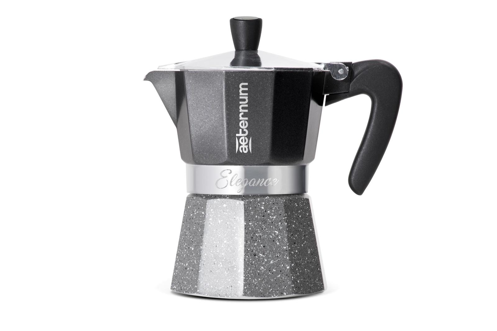 Гейзерная кофеварка Bialetti Aeternum Elegance, на 6 чашек, Алюминиевый сплав кофеварка гейзерная bialetti aeternum elegance 6 порций алюминий 6008