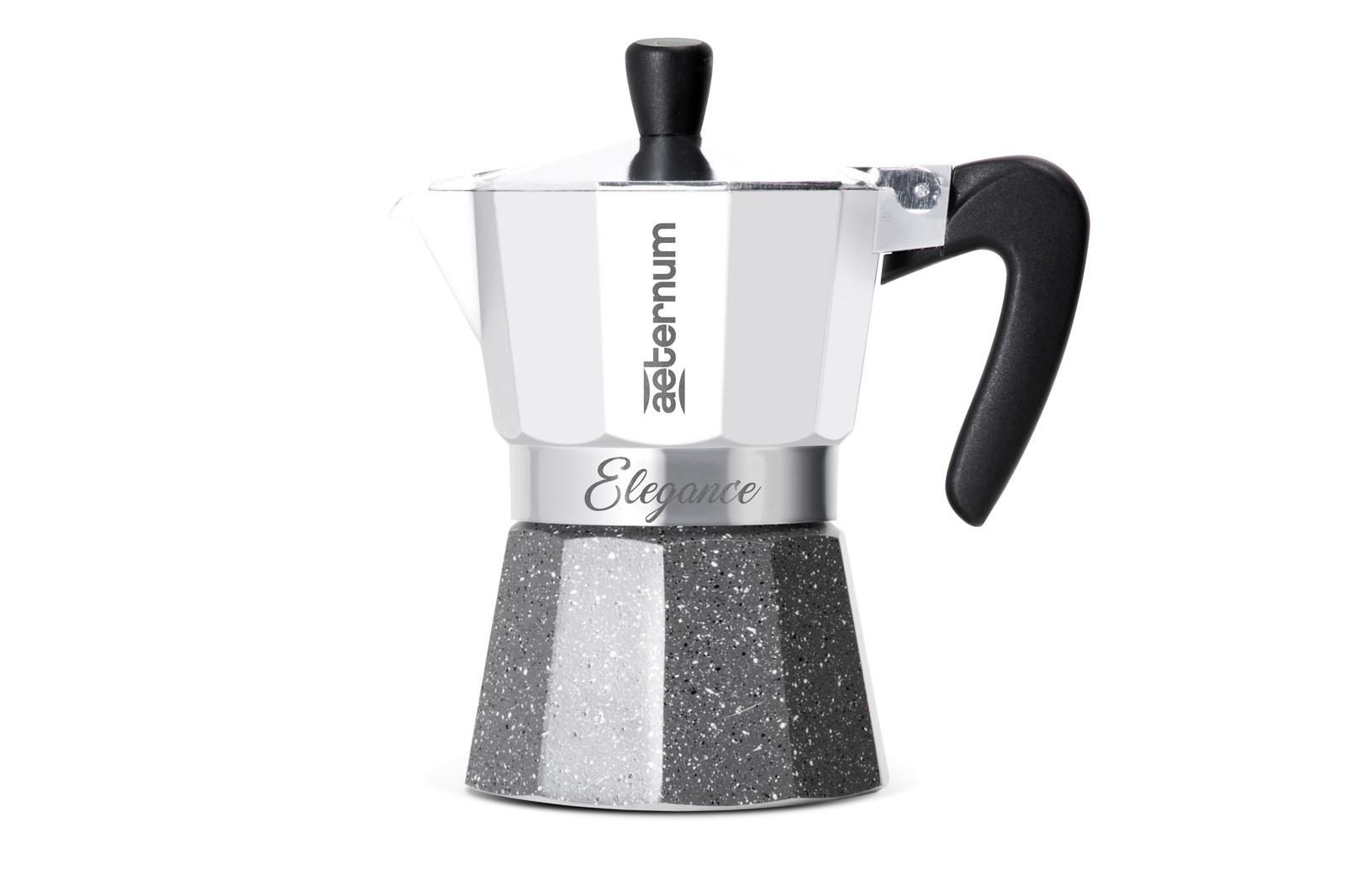 Гейзерная кофеварка Bialetti Aeternum Elegance, на 6 чашек, белый кофеварка гейзерная bialetti aeternum elegance 6 порций алюминий 6008