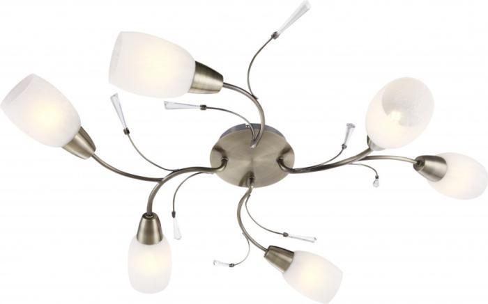 Потолочный светильник Globo New 54645-6, бронза потолочная люстра globo forrest 54645 6