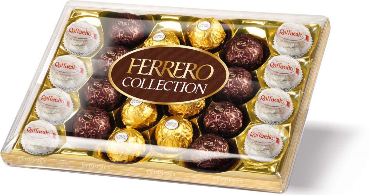 Фото - Конфеты Ferrero набор конфет: Raffaello, Ferrero Rocher, Ferrero Rondnoir, 269,4 г ferrero prestige набор конфет mon cheri ferrero rocher pocket coffee espresso 246 г