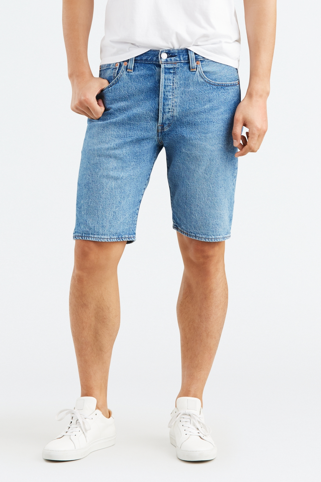 Шорты Levi's Shorts - Denim trendy embroideried broken hole macrame denim shorts for women