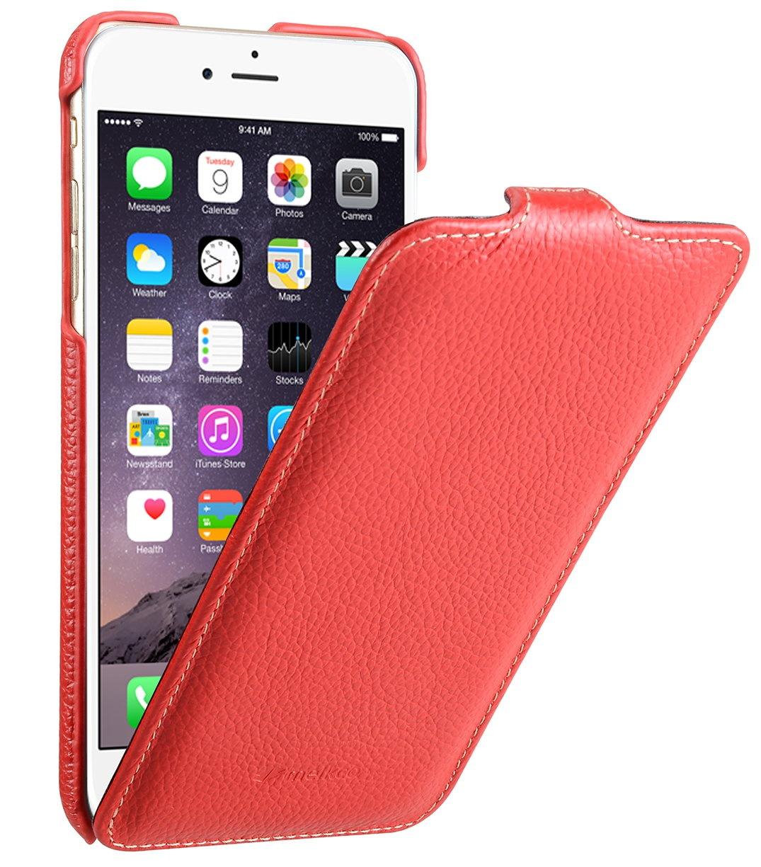 """Чехол для сотового телефона Melkco Кожаный чехол флип для Apple iPhone 6/6S (4.7"""") - Jacka Type, красный"""