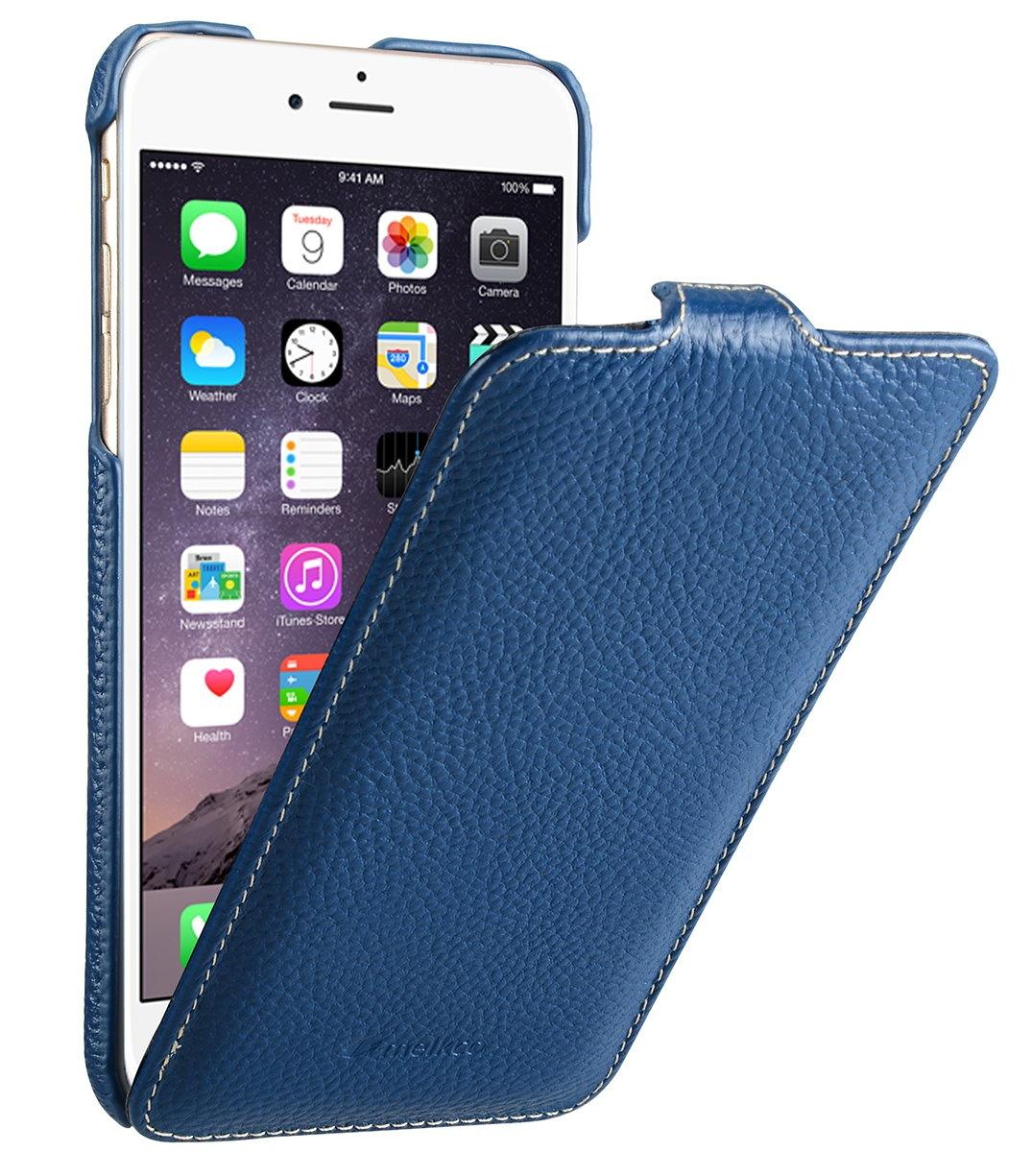 """Чехол для сотового телефона Melkco Кожаный чехол флип для Apple iPhone 6/6S (4.7"""") - Jacka Type, темно-синий"""