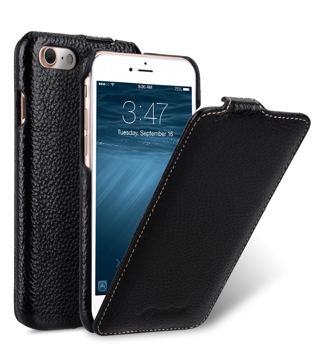 Чехол для сотового телефона Melkco Кожаный чехол флип для Apple iPhone 8/7 - Jacka Type, черный