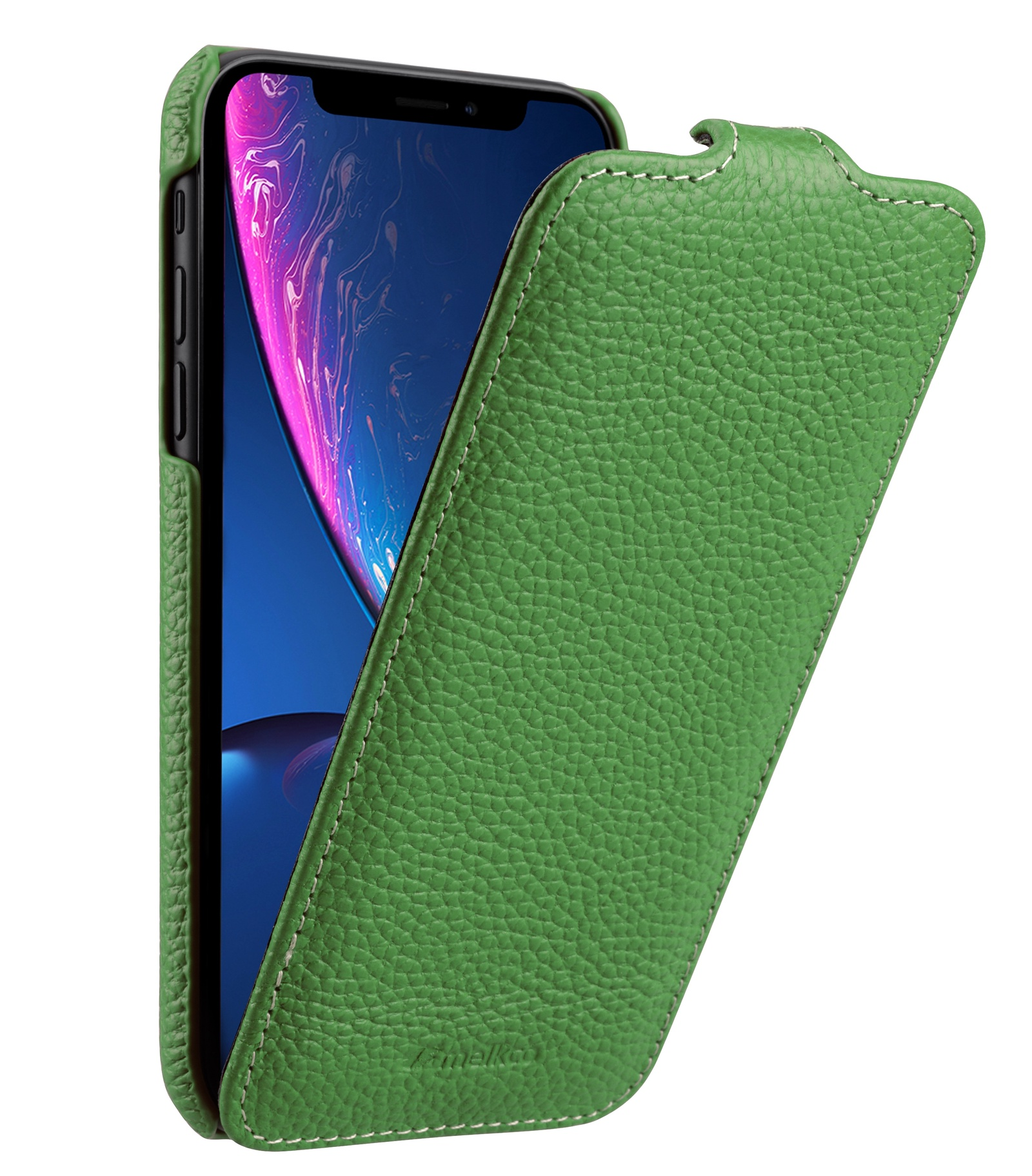 Чехол для сотового телефона Melkco Кожаный чехол флип для Apple iPhone XR - Jacka Type, зеленый чехол для сотового телефона melkco кожаный чехол флип для apple iphone x xs jacka type сиреневый