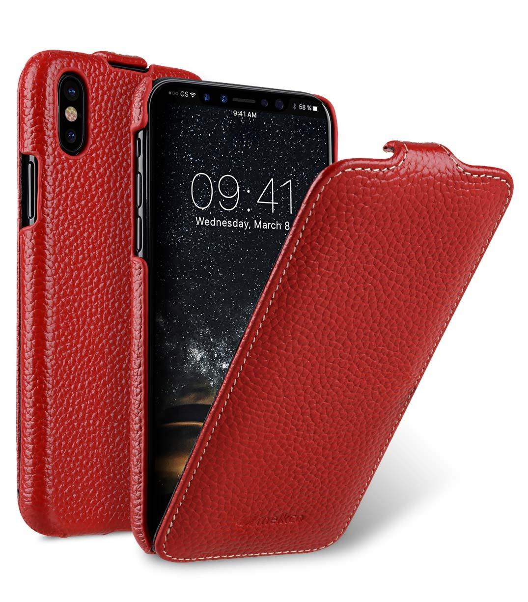 Чехол для сотового телефона Melkco Кожаный чехол флип для Apple iPhone X/XS - Jacka Type, красный чехол для сотового телефона melkco кожаный чехол флип для apple iphone x xs jacka type сиреневый