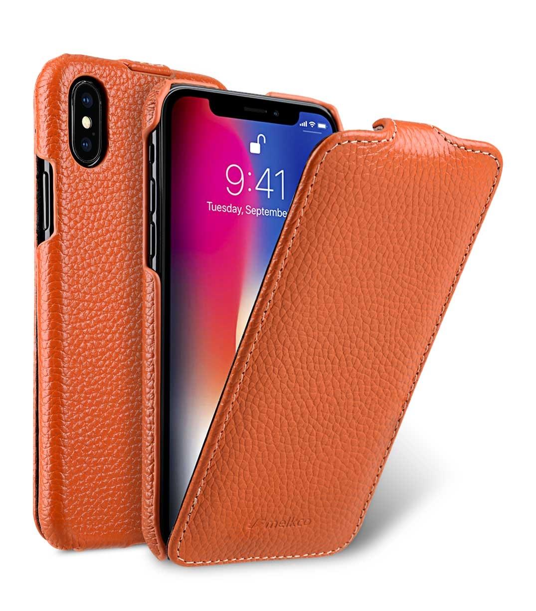 Чехол для сотового телефона Melkco Кожаный чехол флип для Apple iPhone X/XS - Jacka Type, оранжевый чехол для сотового телефона melkco кожаный чехол флип для apple iphone x xs jacka type сиреневый