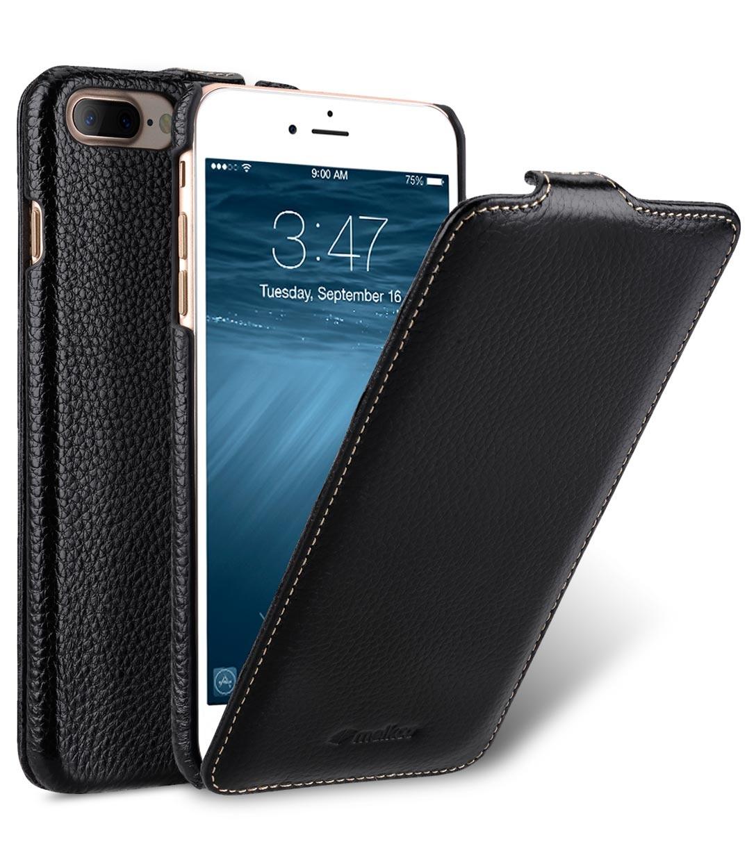 Чехол для сотового телефона Melkco Кожаный чехол флип для Apple iPhone 8 Plus/7 Plus - Jacka Type, черный