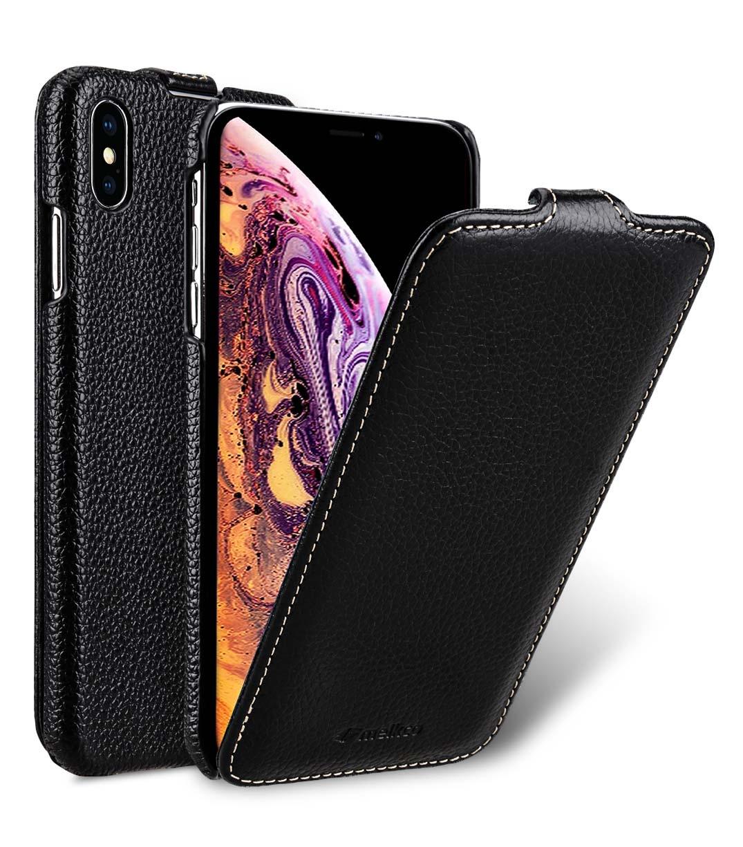 """Чехол для сотового телефона Melkco Кожаный чехол флип для Apple iPhone Xs Max 6.5"""", черный"""