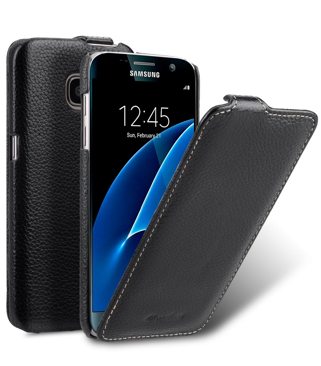 Чехол для сотового телефона Melkco Кожаный чехол флип для Samsung Galaxy S7 - Jacka Type, черный mooncase для samsung galaxy а7 кожаный чехол держатель кошелек флип карты с kickstand чехол обложка no a01